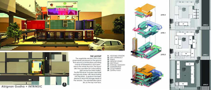 Isometric View:  Commercial Spaces by FabArch