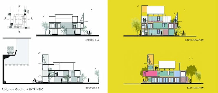 Sections/Elevations:  Commercial Spaces by FabArch
