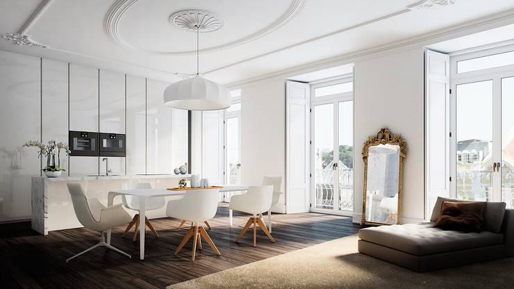 Berga&Gonzalez - arquitectura y render의  주방