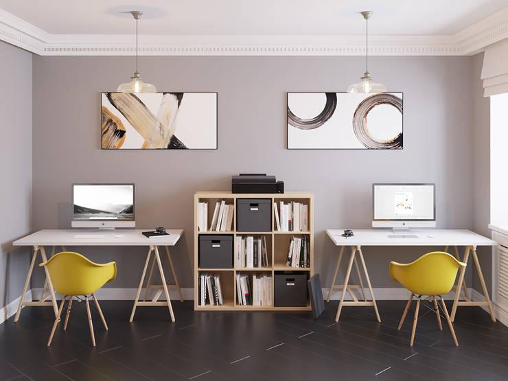 Ин-дизайн의  서재 & 사무실