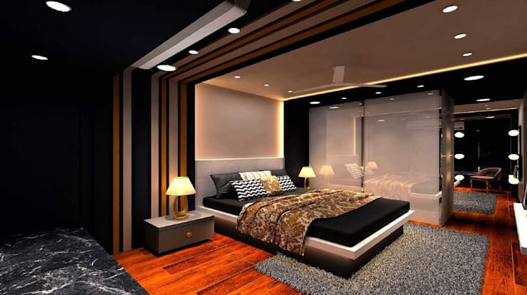 Moroccan STYLE CONTEMPORARY APARTMENT:  Bedroom by MAPLE studio design