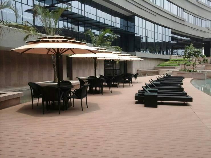 BRAZILIAN IPE DECKING :  Pool by DG DESIGNER LANDSCAPES  LLP