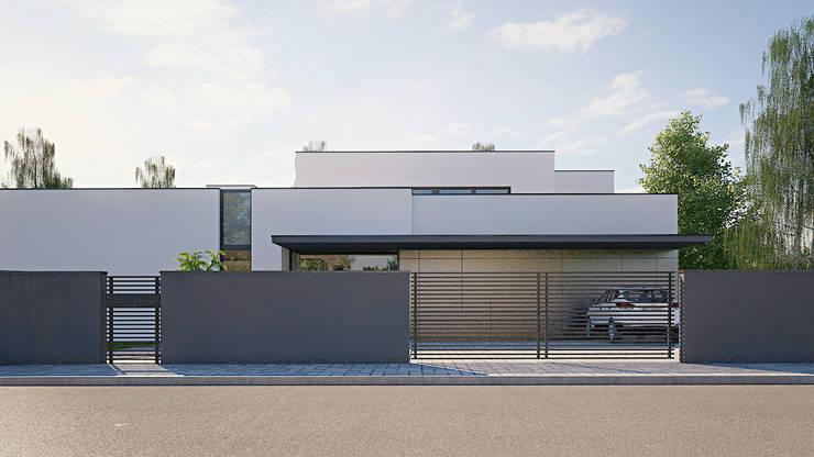 DOM C: styl , w kategorii Domy zaprojektowany przez MACIEJ JANECZEK ARCHITEKT