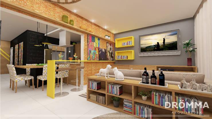INTERIORES M |G 147: Salas de estar modernas por Drömma Arquitetura