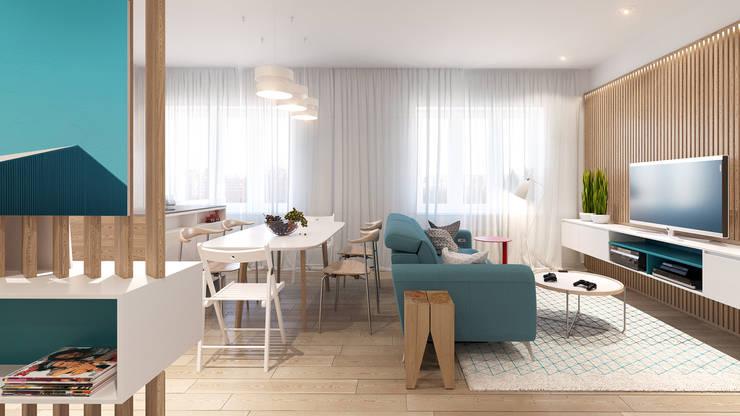 Skandinavische Wohnzimmer von KYD BURO Skandinavisch