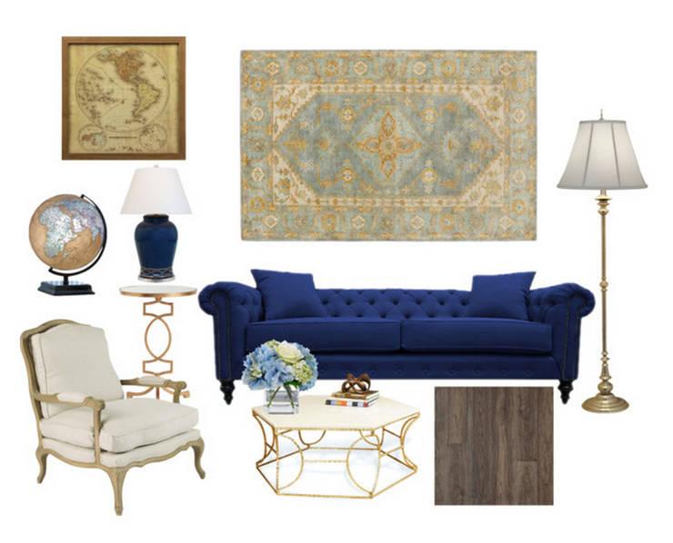 Sala Suite :   por Rafaela Fraga Brás Design de Interiores & Homestyling