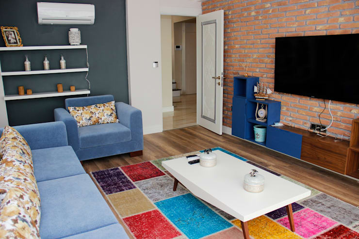 50GR Mimarlık – 50GR MİMARLIK _ Seyri Sapanca_ Oturma Odası:  tarz Oturma Odası