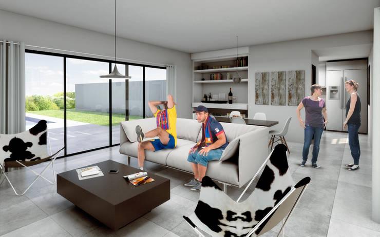 Casa Pellegrino:  de estilo  por Estudio 2s | Arquitectos,Moderno