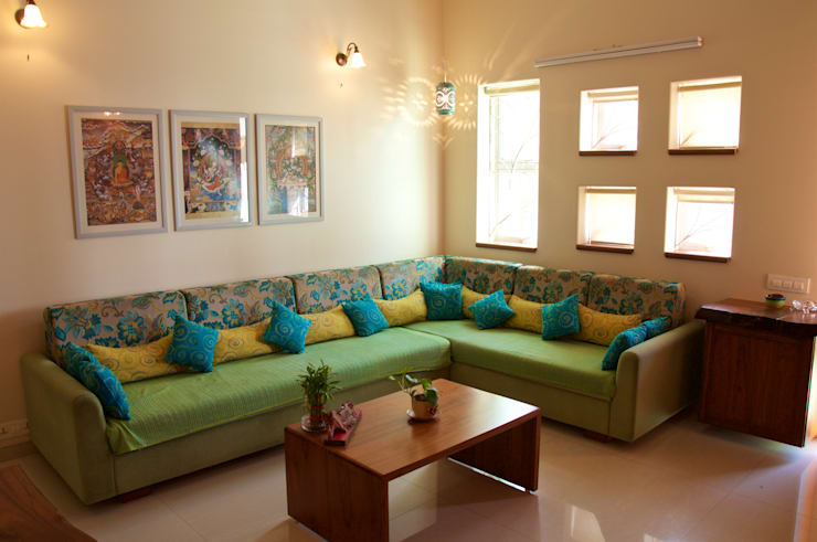 eclectic Living room by Design Kkarma (India)
