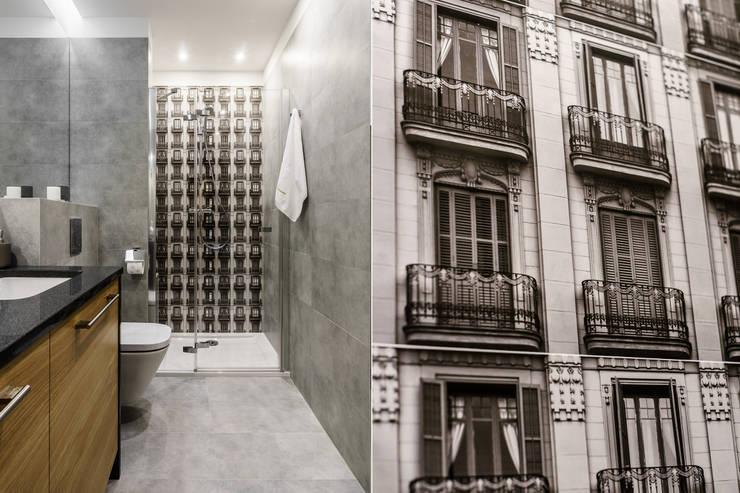 Baños de estilo moderno por Anna Serafin Architektura Wnętrz