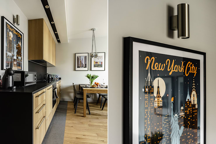Cocinas de estilo moderno por Anna Serafin Architektura Wnętrz