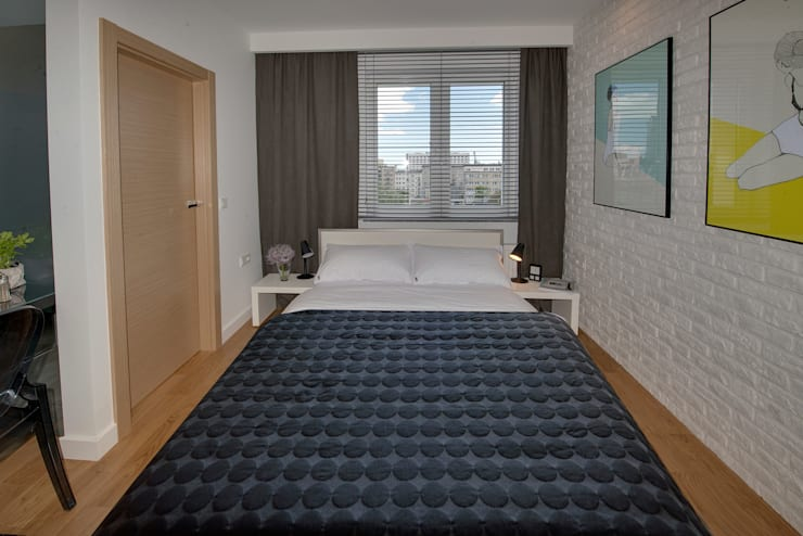 modern Bedroom by Anna Serafin Architektura Wnętrz