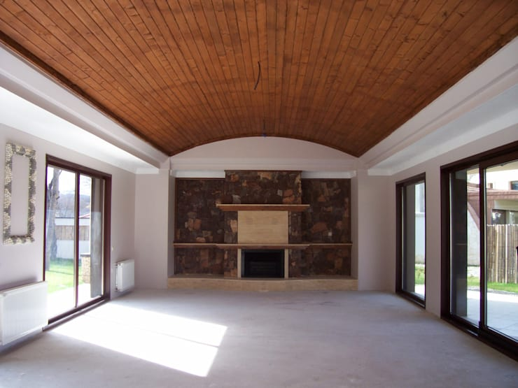 Living room by SAYTAS SABUNCUOGLU YAPI VE TIC.LTD.STI.