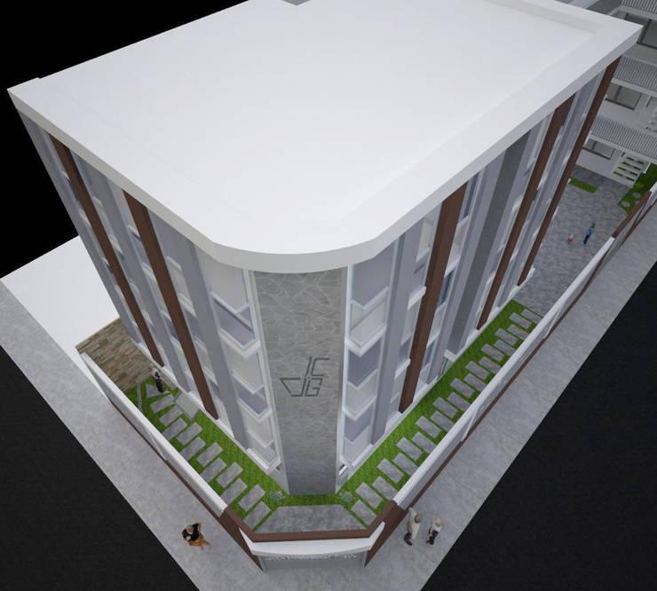 FACHADA PRINCIPAL: Escuelas de estilo  por Arquitectura y diseño 3d- J.C.G