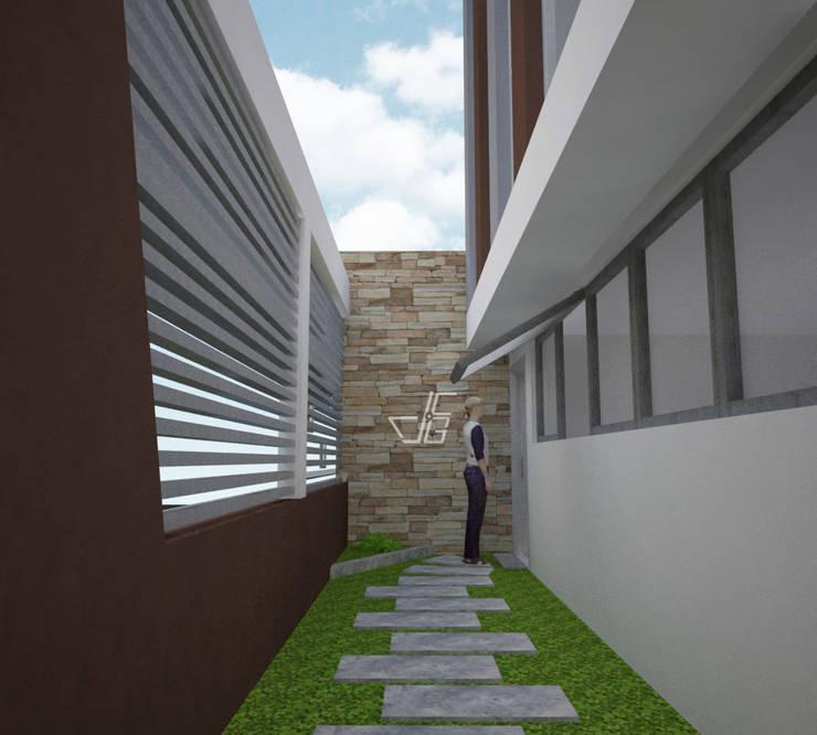 INTERIORES: Livings de estilo  por Arquitectura y diseño 3d- J.C.G