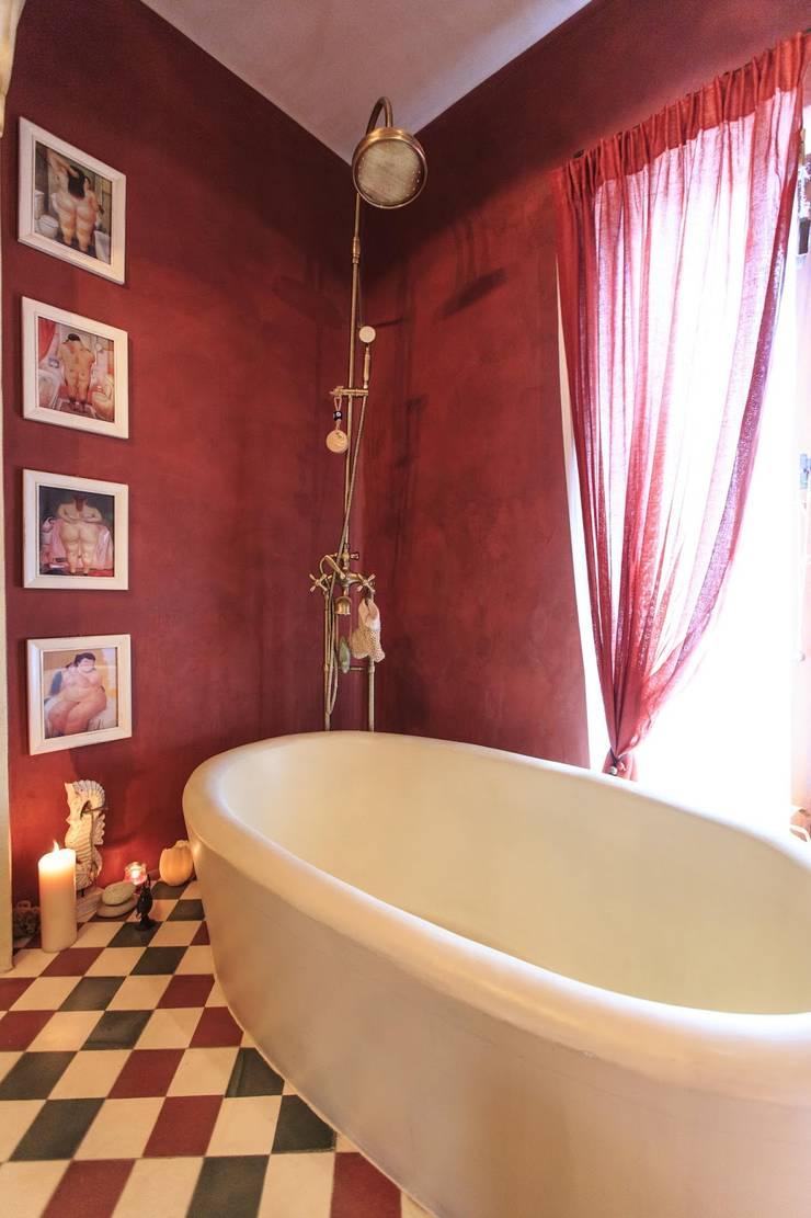 New Customer photos of cement tiles: Baños de estilo mediterráneo de Crafted Tiles