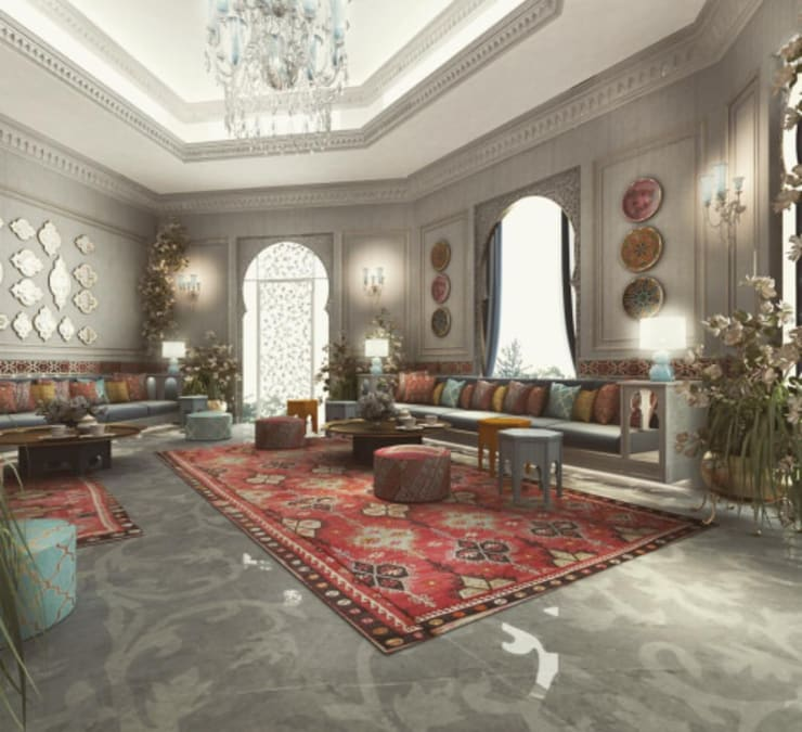 Interior Design & Architecture  by IONS DESIGN Dubai,UAE:  Living room by IONS DESIGN