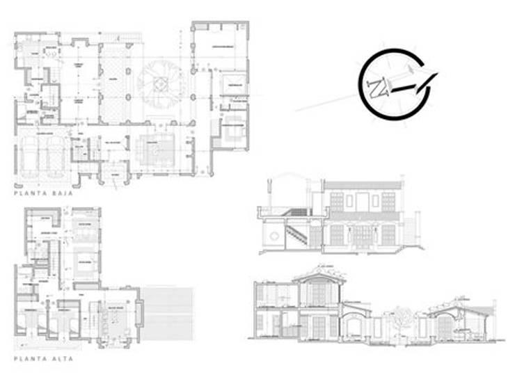 Casa en San Isidro Villa residencial – Villa Allende- Cordoba: Casas de estilo  por Alejandro Asbert Arquitecto,