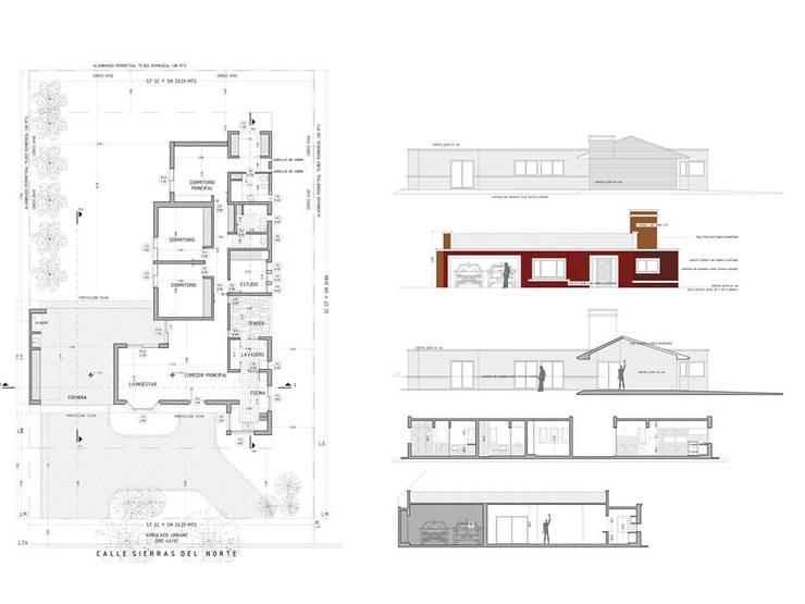 Casa en San Isidro Villa Residencial – Villa Allende – Cordoba: Casas de estilo  por Alejandro Asbert Arquitecto