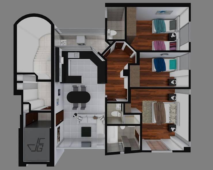 Proyecto en San Andrés, Trujillo:  de estilo  por Arquitectura y diseño 3d- J.C.G