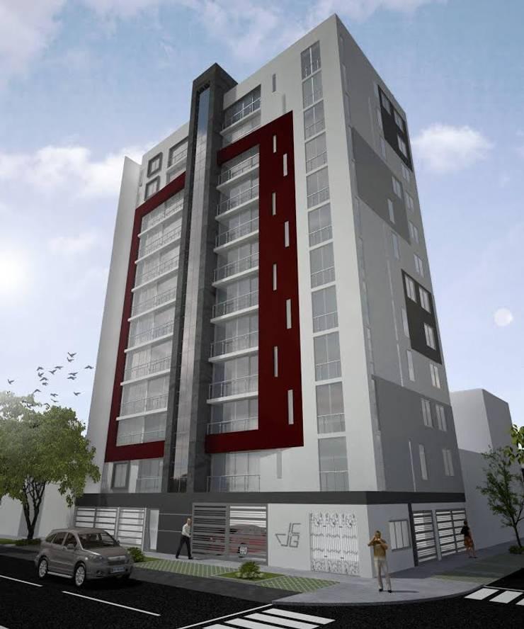 Proyecto en San Andrés, Trujillo: Casas de estilo  por Arquitectura y diseño 3d- J.C.G