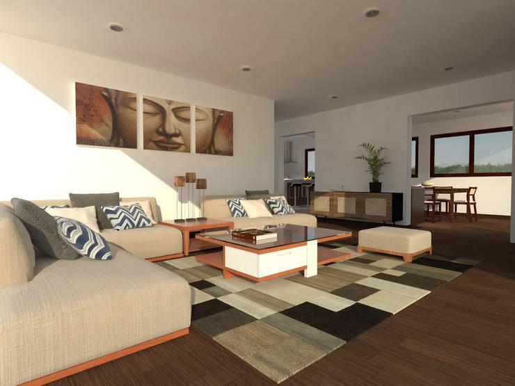 Casa Gama: Livings de estilo  por Vibra Arquitectura