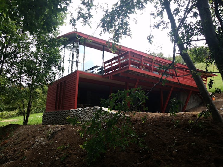 Casa Lago Ranco: Casas de estilo  por Vibra Arquitectura
