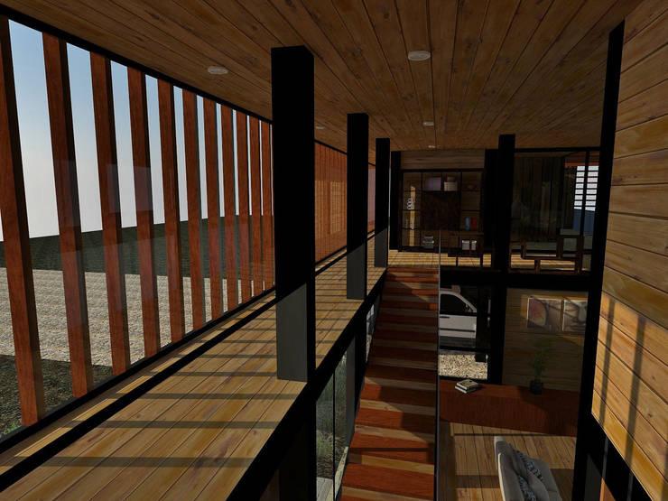 Casa Los Pinos: Terrazas  de estilo  por Vibra Arquitectura