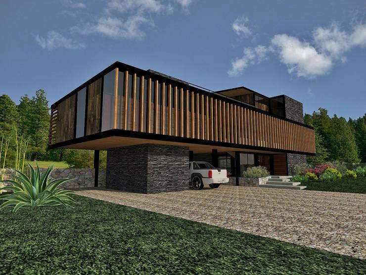 Casa Los Pinos: Casas de estilo  por Vibra Arquitectura