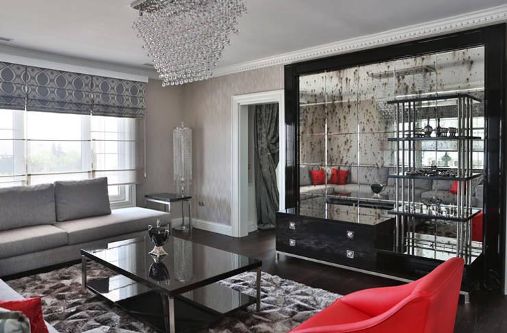 غرفة المعيشة تنفيذ Aykuthall Architectural Interiors