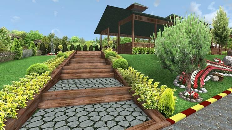 AYTÜL TEMİZ LANDSCAPE DESIGN – SÜTLÜ KAHVE KAFE – PEYZAJ PROJE // SUTLU KAHVE CAFE – LANDSCAPE PROJECT:  tarz Bahçe