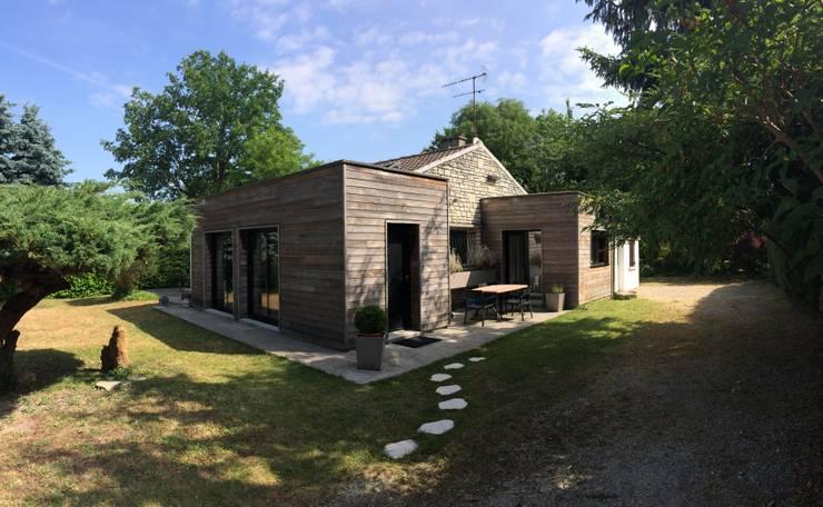 Projekty,  Domy zaprojektowane przez Olivier Olindo Architecte