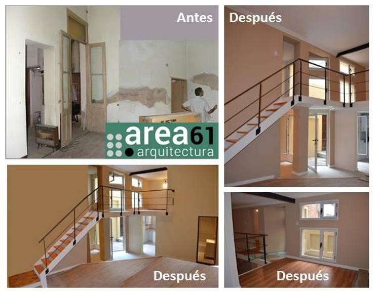 PH Monserrat: Livings de estilo  por Area61 Arquitectura,