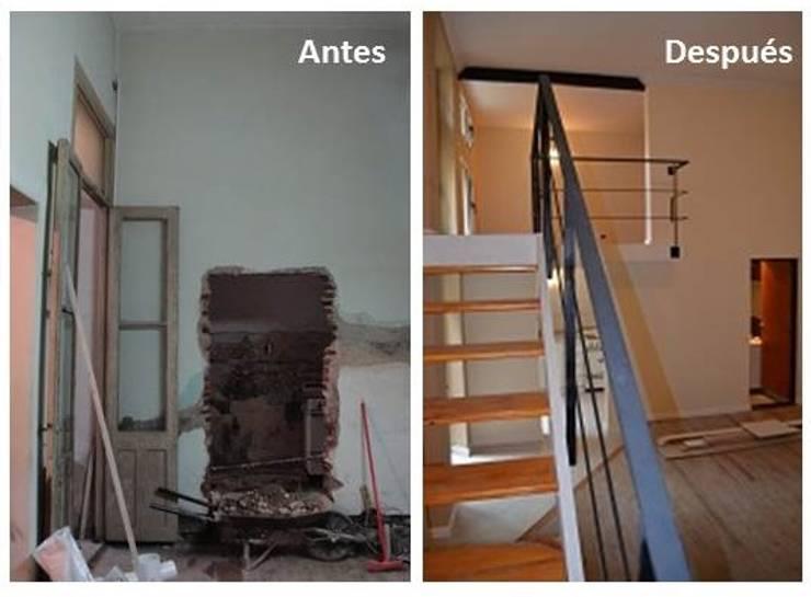 Antes y despues. : Dormitorios de estilo  por Area61 Arquitectura,