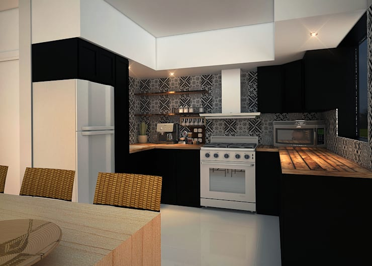 Dapur built in by Rotoarquitectura