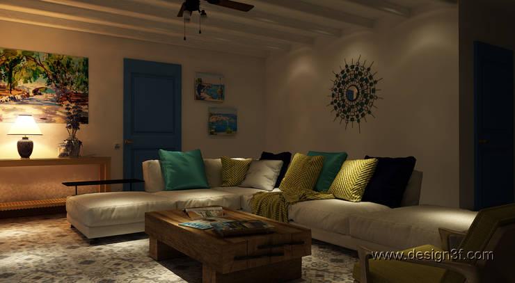 гостиная в средиземноморском стиле: Гостиная в . Автор – студия Design3F, Средиземноморский