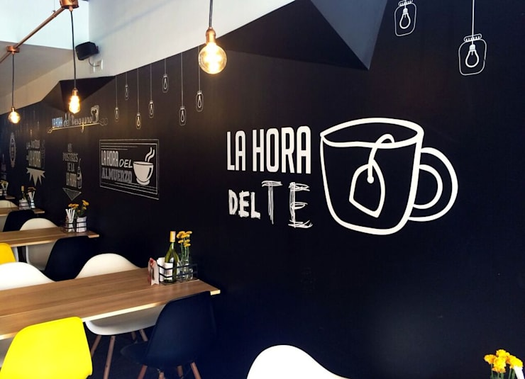 Restaurante La Hora: Locales gastronómicos de estilo  por Integra Proyectos