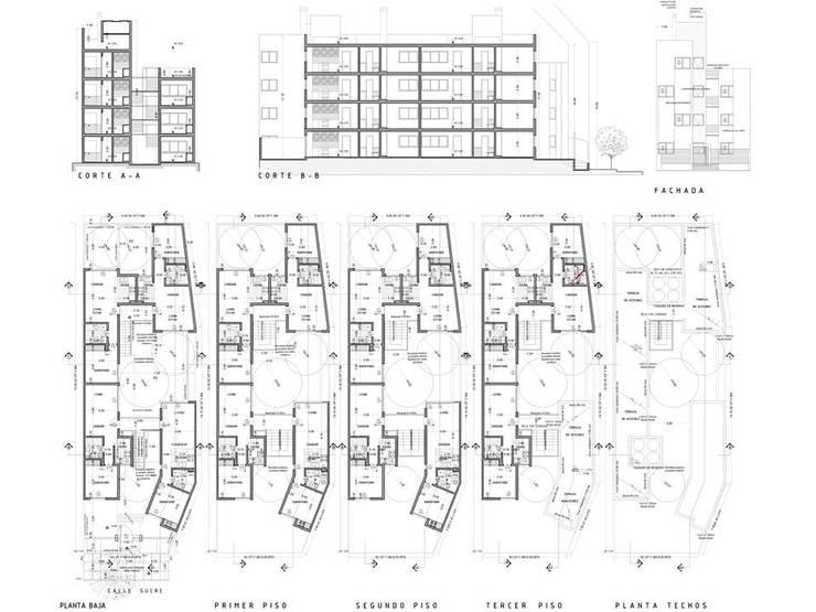 fideicomiso sucre: Casas de estilo  por Alejandro Asbert Arquitecto