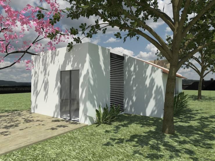 CASA CAMPESTRE LA CUMBRE: Casas de estilo moderno por MODOS Arquitectura