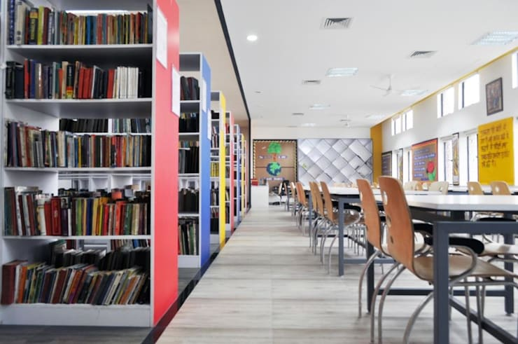 school library: modern Study/office by MYSPACE ARCHITECTS