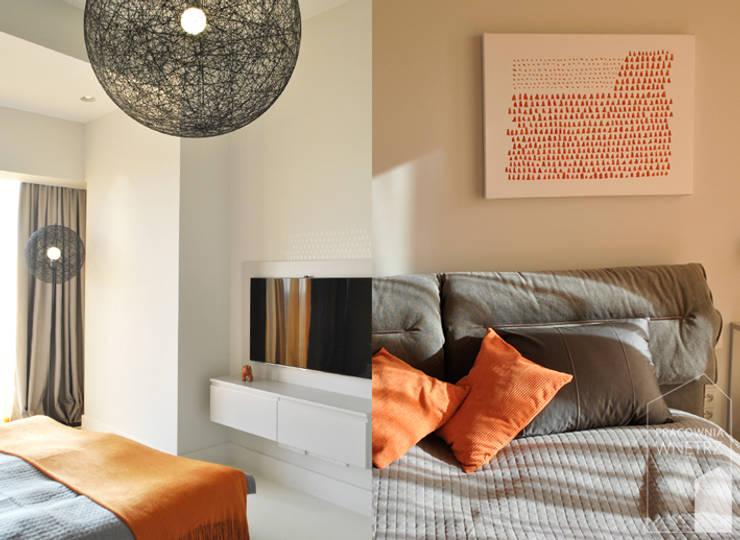 Kolaż - sypialnia: styl , w kategorii Sypialnia zaprojektowany przez Pracownia Wnętrz