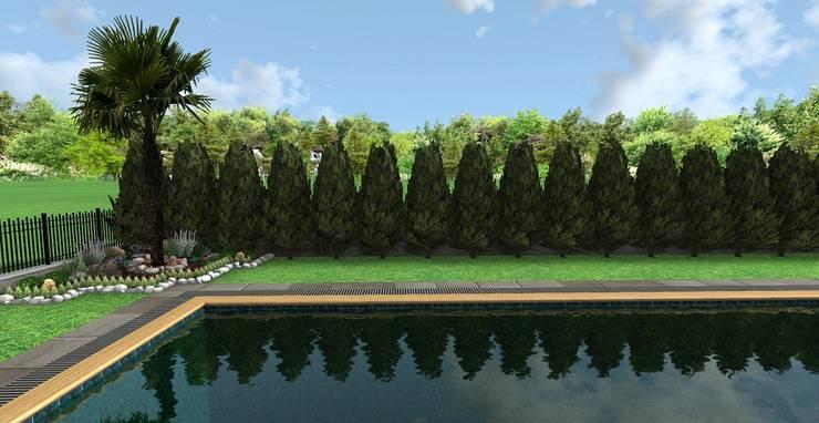 AYTÜL TEMİZ LANDSCAPE DESIGN – GÜZELŞEHİR VİLLALARI-PEYZAJ PROJE // GUZELSEHIR VILLA – LANDSCAPE PROJECT:  tarz Bahçe