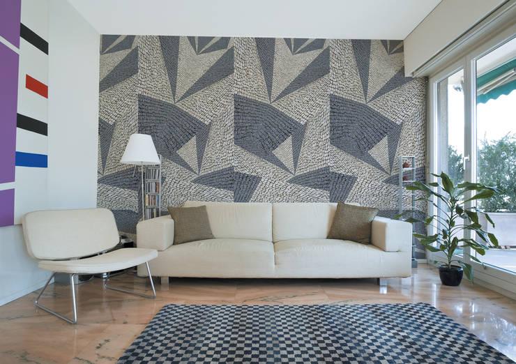 Calçada Portuguesa Tangram 2: Parede e piso  por OH Wallpaper