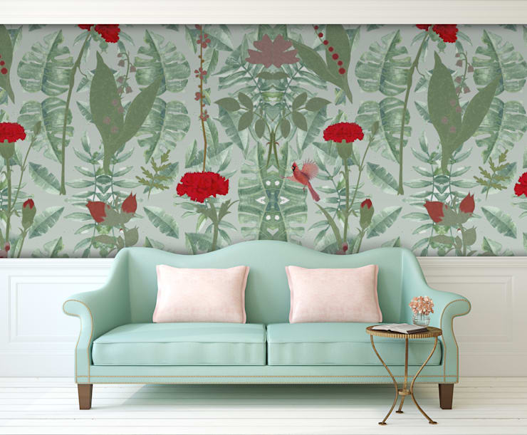 Cravo Verde:   por OH Wallpaper,Moderno Papel