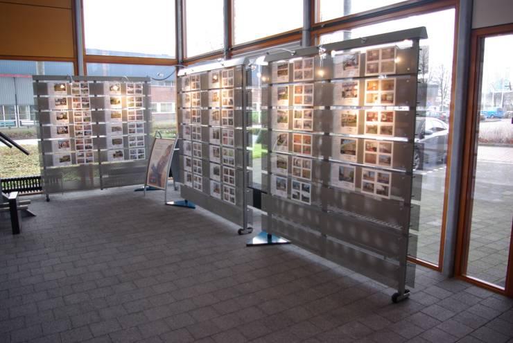 Interieur Makelaar Dijkstra Heida :  Kantoorgebouwen door Dick de Jong Interieurarchitekt, Modern