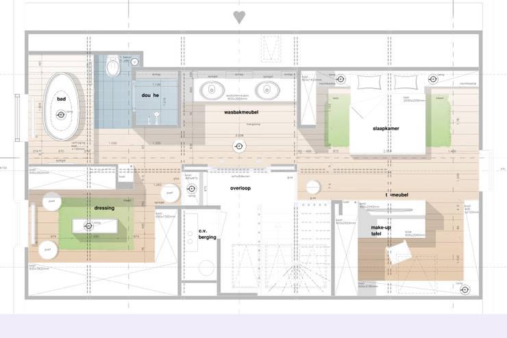 Verbouwing zolder Maassluis:   door Woon Architecten