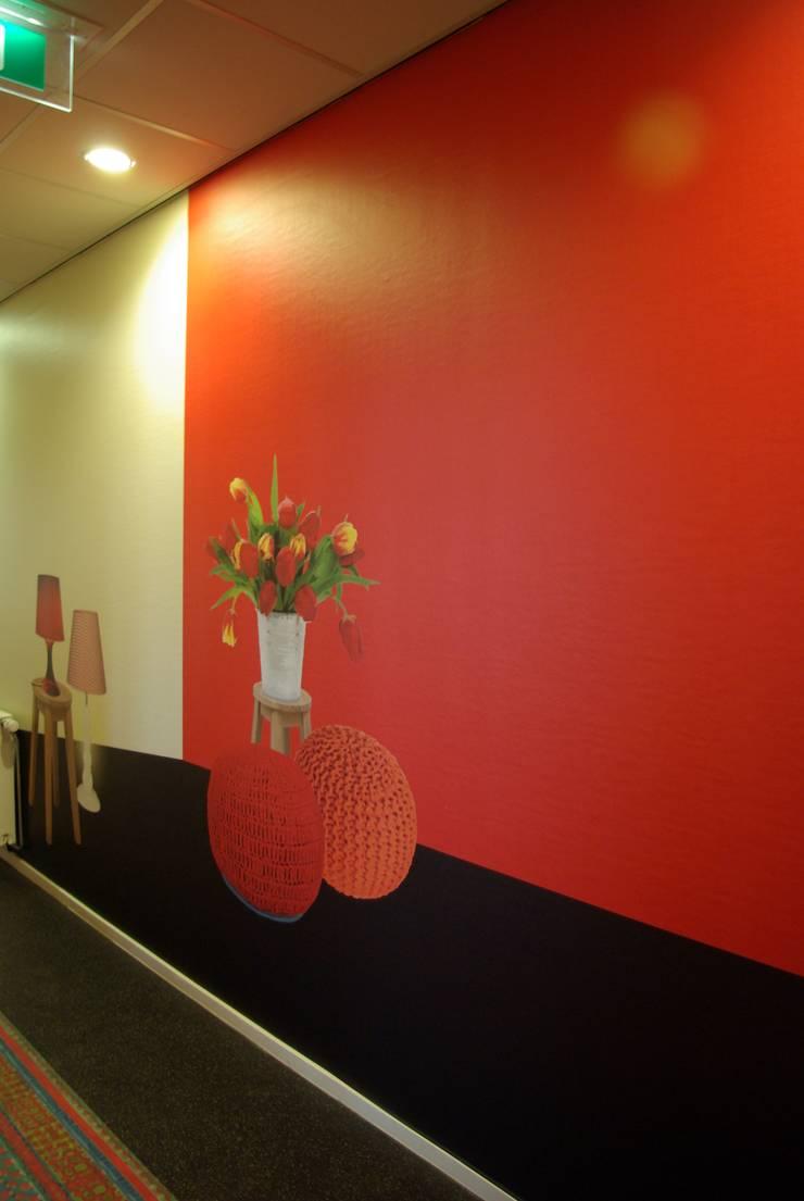 Interieur Talencentrum Fryslan:  Kantoor- & winkelruimten door Dick de Jong Interieurarchitekt, Modern