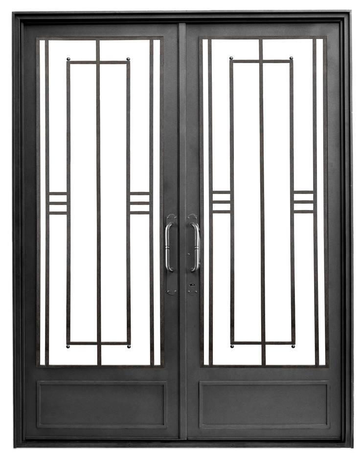 Puerta de hierro modelo Berta Casas modernas: Ideas, imágenes y decoración de DEL HIERRO DESIGN Moderno Hierro/Acero