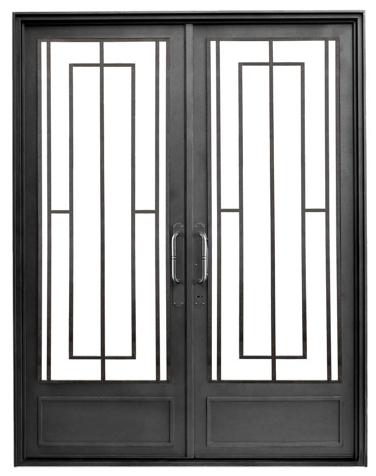 Puerta de entrada de hierro Modelo Antonia Casas modernas: Ideas, imágenes y decoración de DEL HIERRO DESIGN Moderno Hierro/Acero