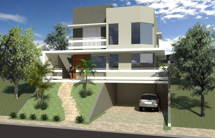 Casas de estilo  por Hamilton Turola Arquitetura e Design